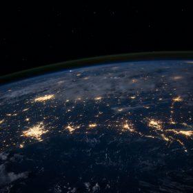International skyline at night